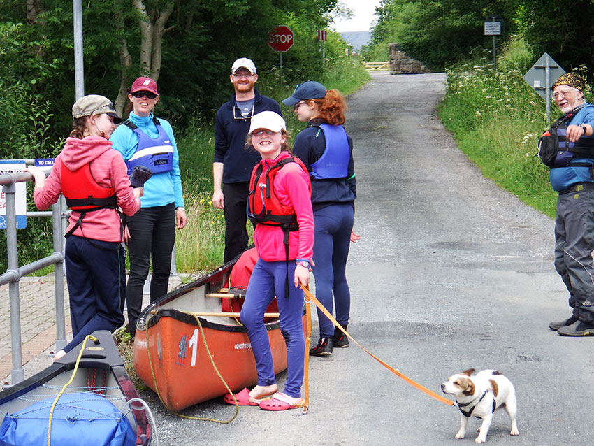 portaging with Adventure Gently Shannon Blueway, Drumleague Lock