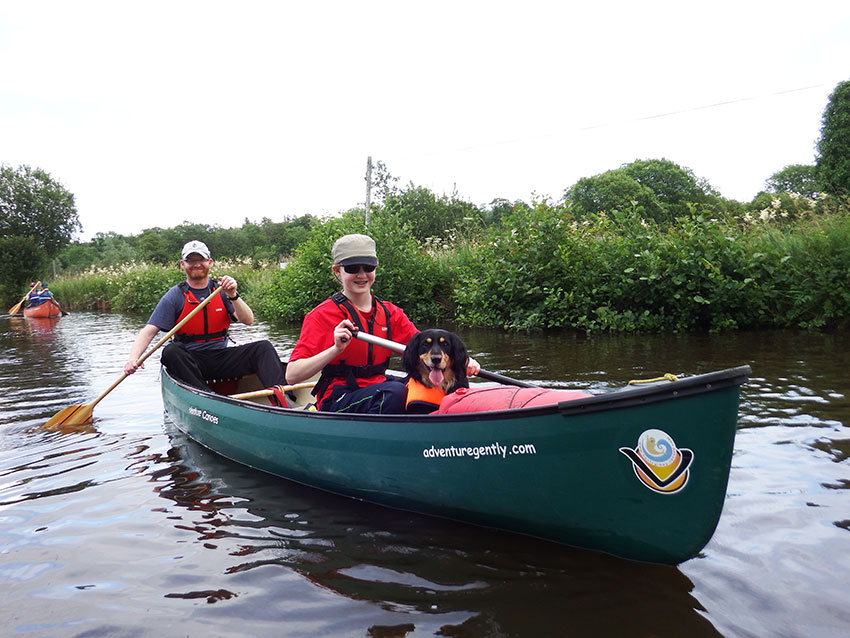 approaching Battlebridge, Shannon Blueway with Adventure Gently