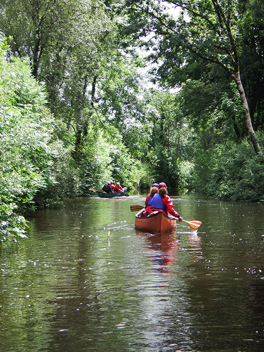 Beautiful Shannon Blueway canoeing with Adventure Gently